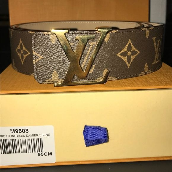 8330026d13bf Louis Vuitton Brown Damier Belt Louis Vuitton Brown Damier Belt - with Gold  Buckle! Authentic