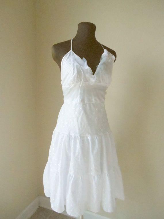 Simple Wedding Dress Beach Barn Rustic Cotton Bridal Gown Lace ...