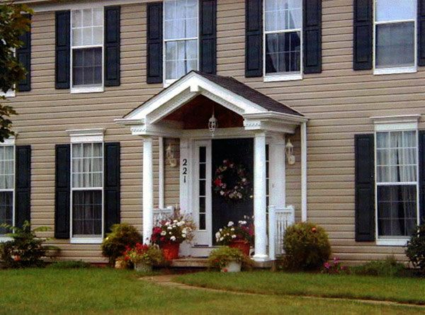 Front porch designs front porch front porch gable for Decorative exterior columns for house