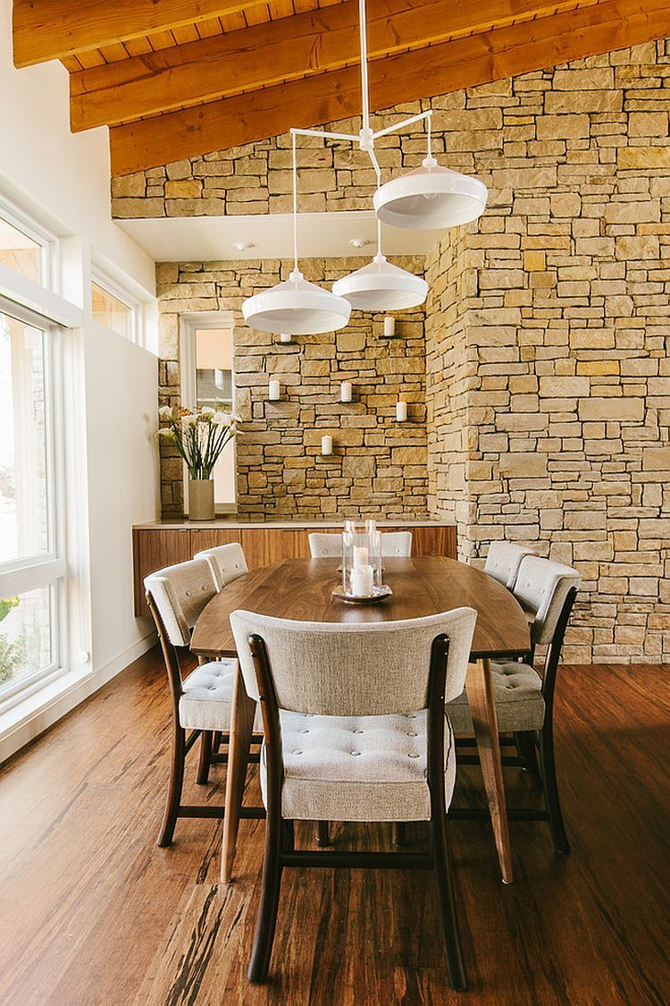 Exquisite Dining Rooms With Stone Walls Homes Pinterest Dining