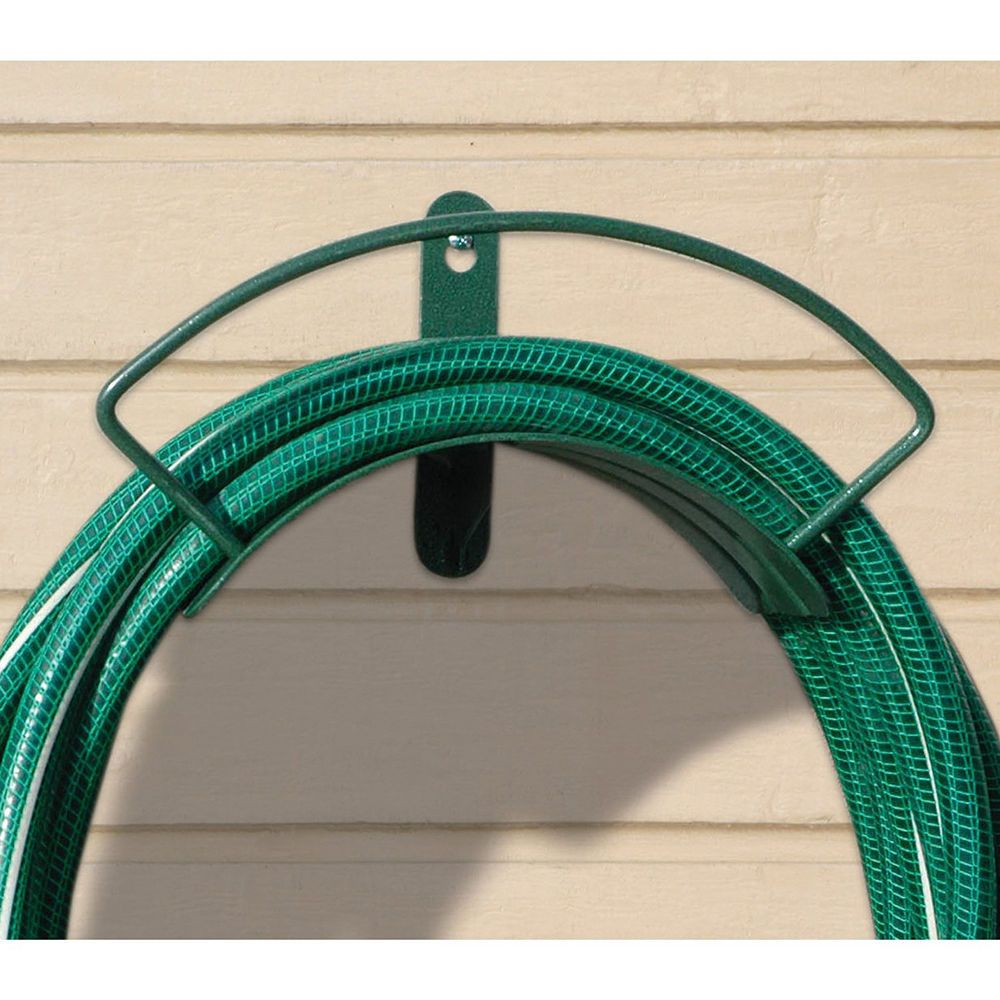 Garden Hose Hanger Wall Mount Holder Yard Patio Storage Metal ...