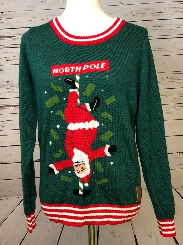 Ho Ho Ho Santa Claus Flasher Women/'s Tank Top Ugly Sweater Christmas Xmas