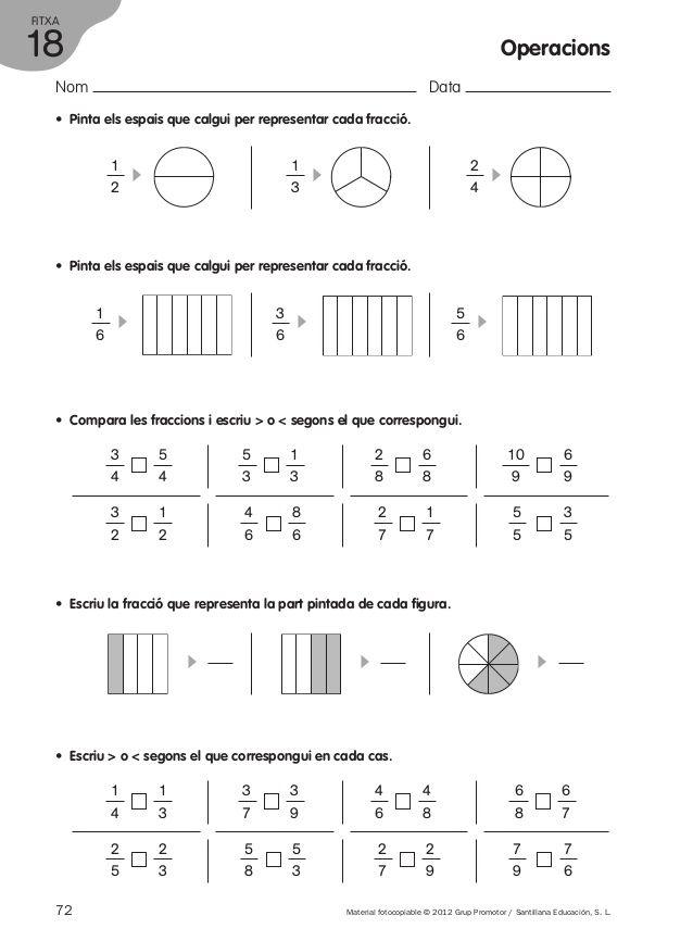 Operacions i problemes | Ejercicios matematicas primaria ...