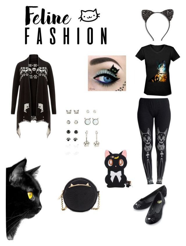 """""""feline fashion"""" by pineapplesyay ❤ liked on Polyvore featuring WithChic, Cara and Betsey Johnson"""