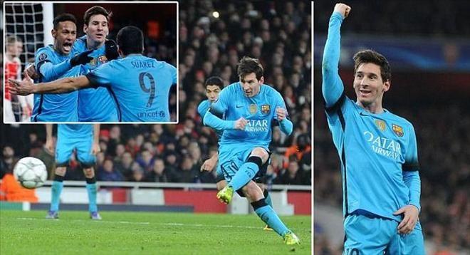 Messi tỏa sáng giúp Barca đánh bại Arsenal - 3g.wap.vn