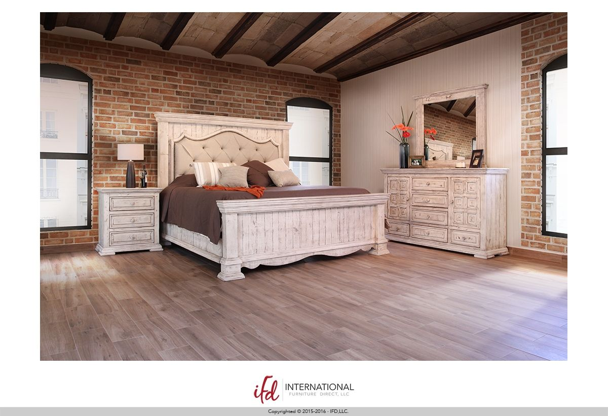 Bella Collection By International Furniture Direct 1024 2469 Set Includes Queen Bedframe