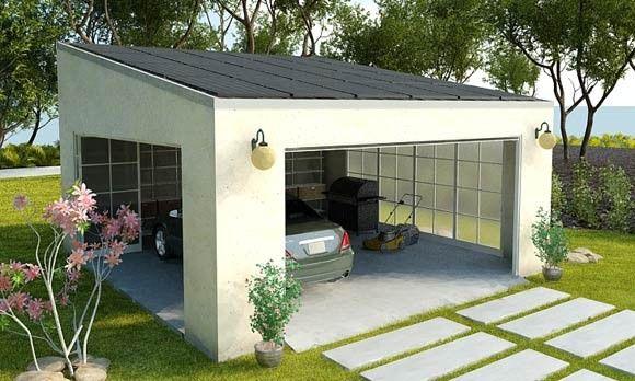 What a great idea, a carport that includes enough solar panels to - fabricant de garage prefabrique
