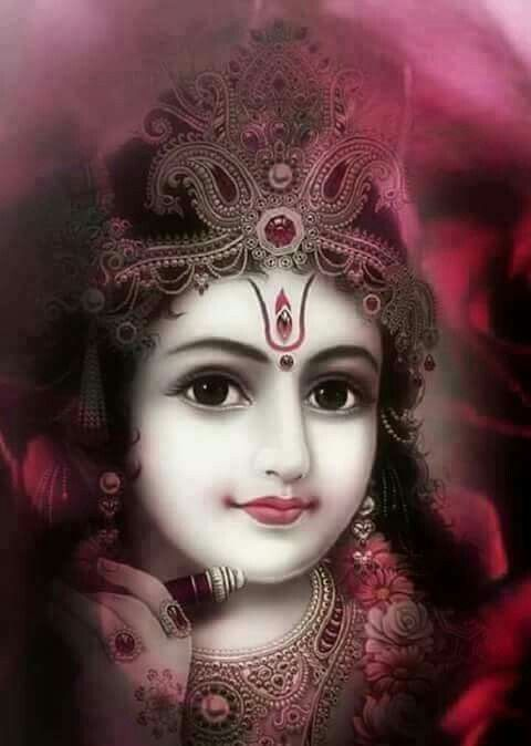 Very Beautiful Krsna In His Divine Surreal Beauty Just One Look