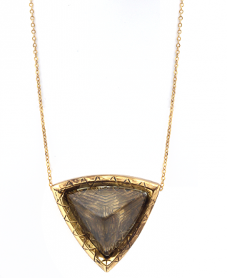 House of Harlow Large Resin Pyramid Pendant Necklace