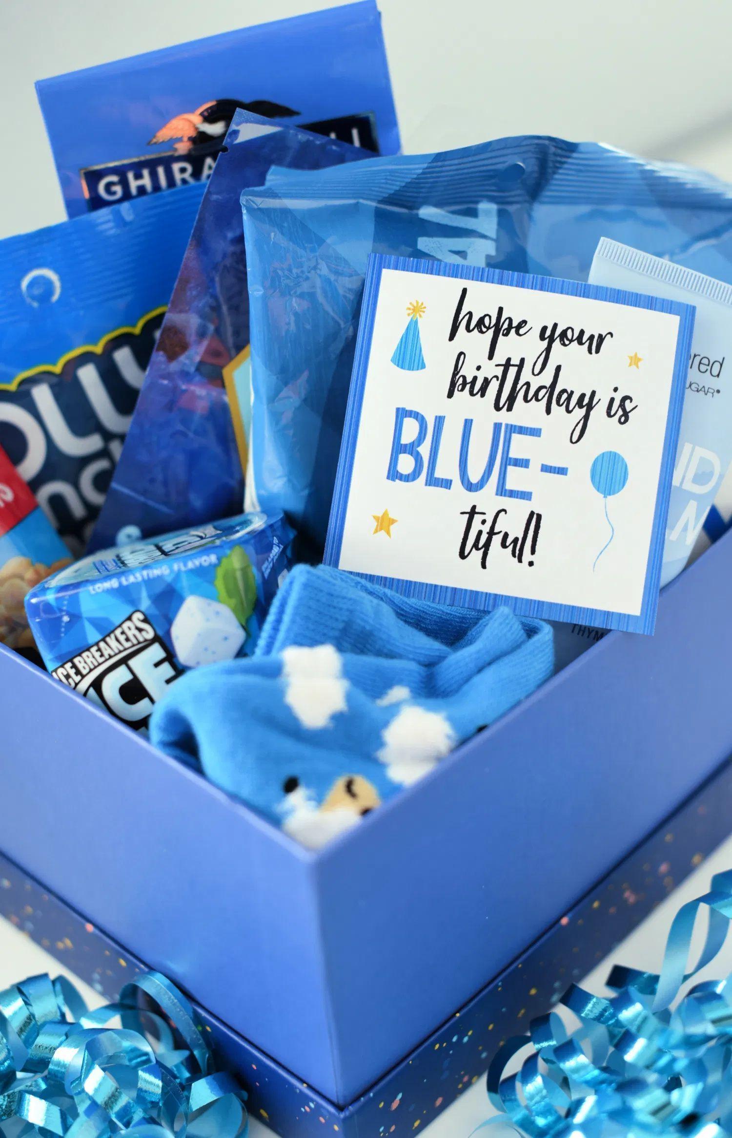 Blue-Themed Birthday Gift Idea in 2020 | Bff birthday gift. Cute birthday gift. Friend birthday gifts