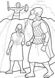 David Spares Saul Coloring Page Sketch Template David Bible