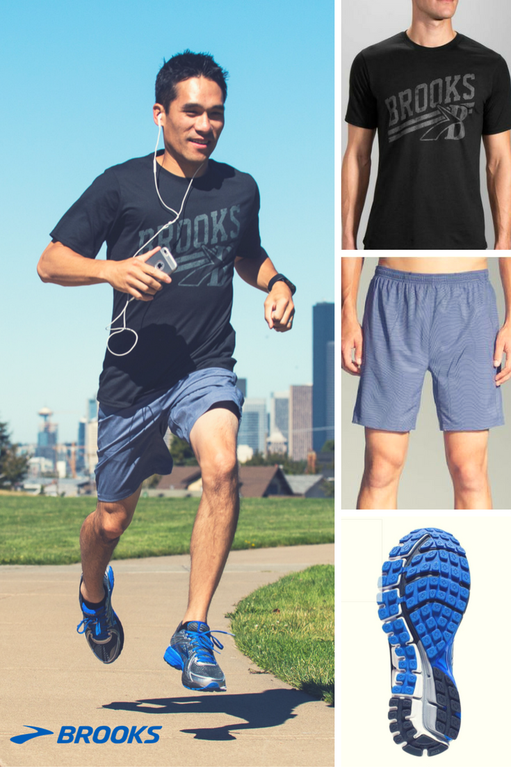 Gifts for Him   Men's Brooks Heritage Running T-Shirt  Men's Sherpa Running Shorts The Adrenaline GTS 17 from Brooks Running