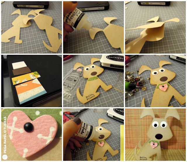 Crafting ideas from Sizzix UK: Puppy bookmark for children