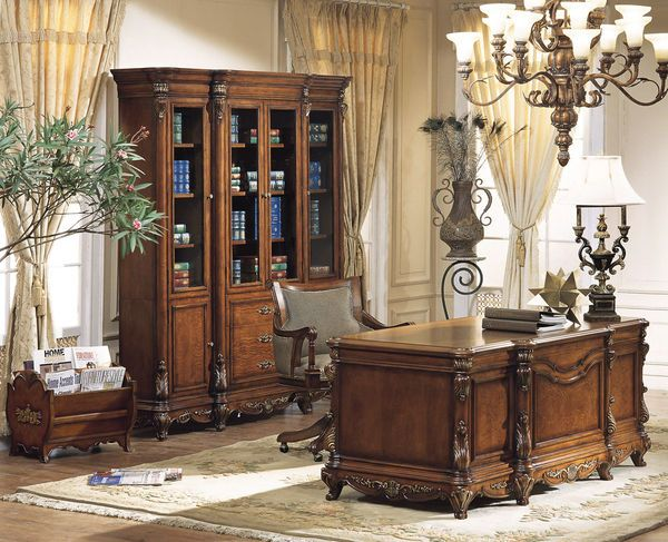 Ornate Traditional Executive Desk Set Executive Desk Set
