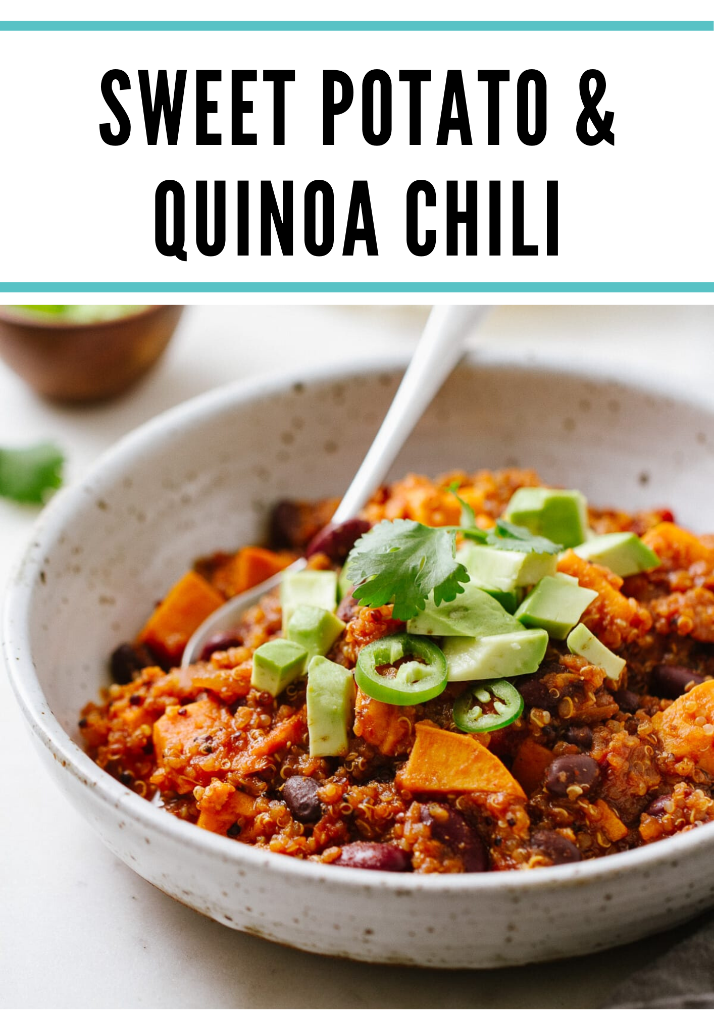 Sweet Potato Quinoa Chili Vegan Bowl Recipes Vegan Recipes Vegan Recipes Healthy