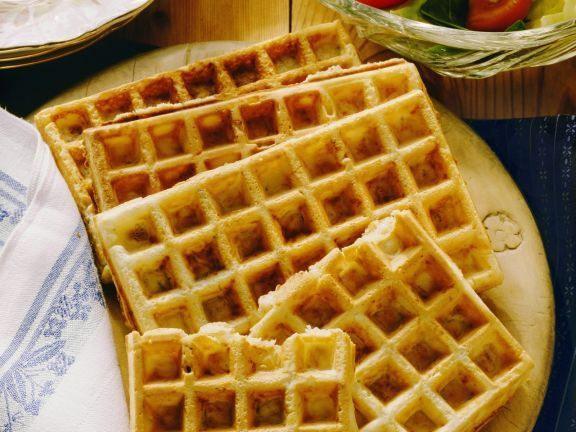 Hearty cheese waffles -  Hearty cheese waffles is a recipe with fresh ingredients from the waffle c