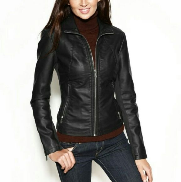 Kenneth cole reaction ladies leather jacket