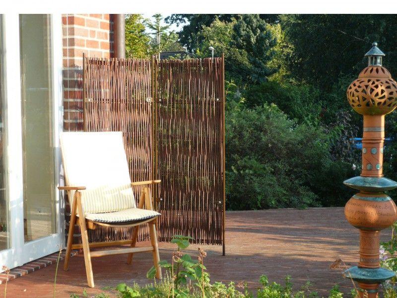 Trend Wetterfeste Paravents f r Balkon u Garten Platzsparender Sichtschutz aus Kunststoff oder geflochtener Weide g nstig einkaufen