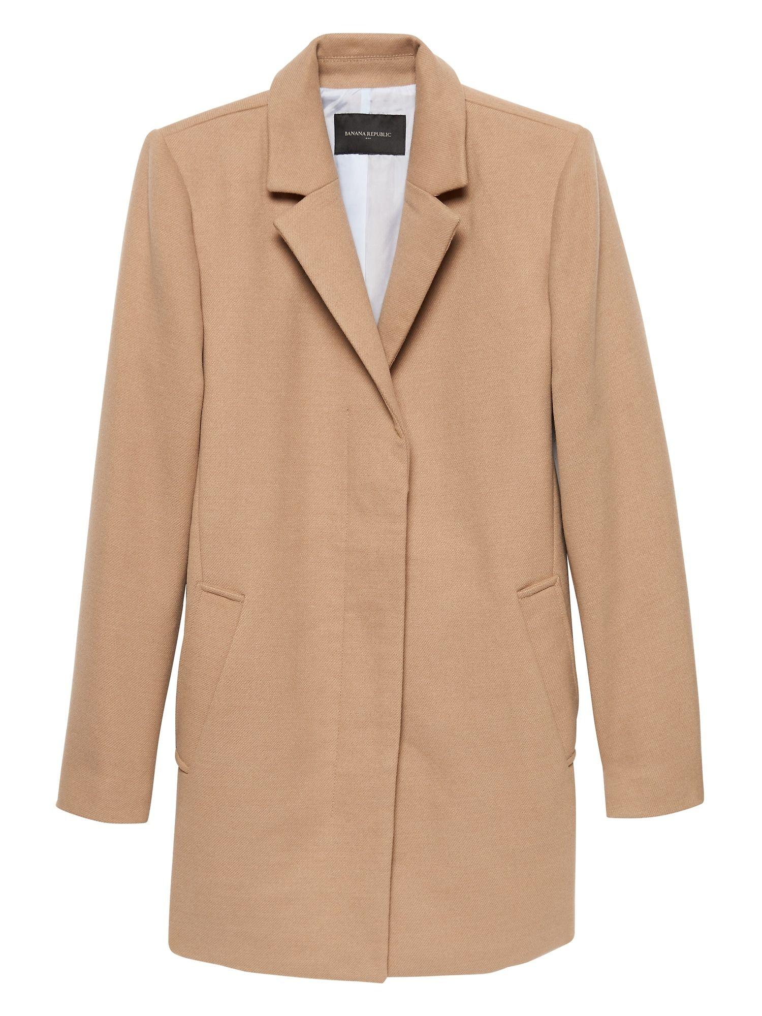 Petite Doublecloth Top Coat Banana Republic Factory Fashion Outerwear Women S Blazer [ 2000 x 1500 Pixel ]