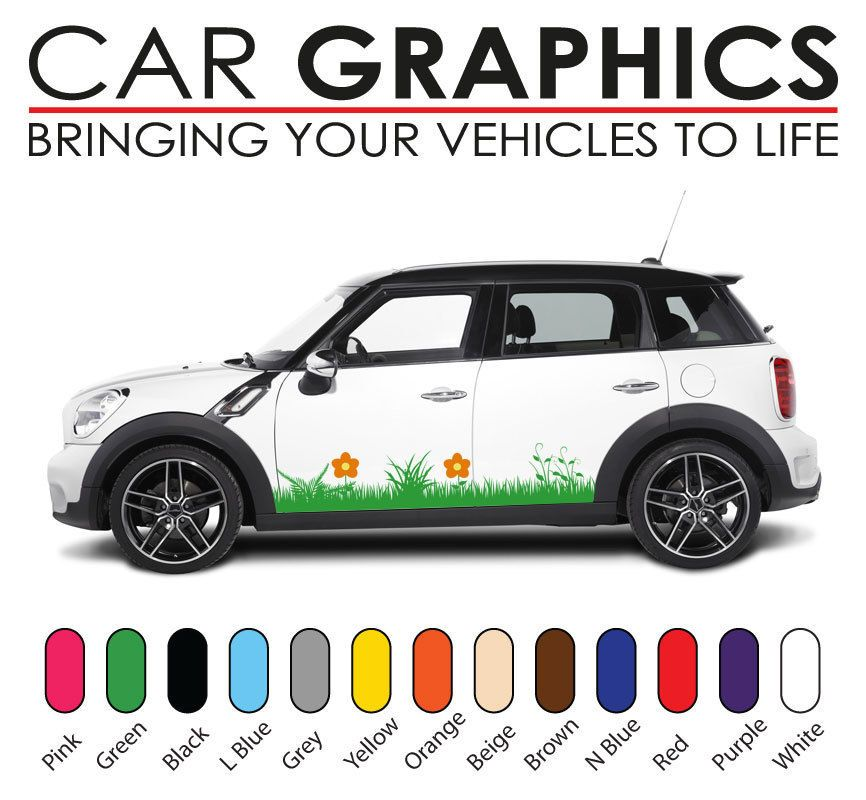 Mini Car Graphics Stripes Decals Stickers Cooper Vinyl Design Mn1