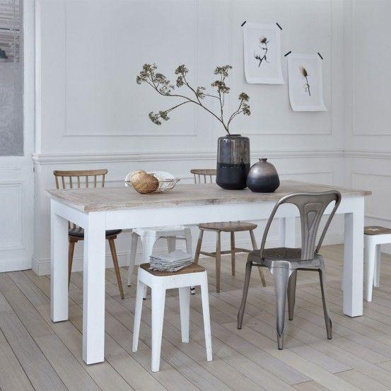 Table En Bois D Acajou Et Teck 8 Personnes Londres Table Bois Table Salle A Manger Et Mobilier De Salon