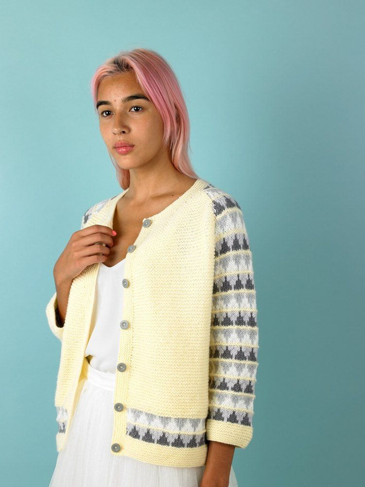 33d8501ab Candy Cardigan in Paintbox Yarns Baby DK - Downloadable PDF Free ...