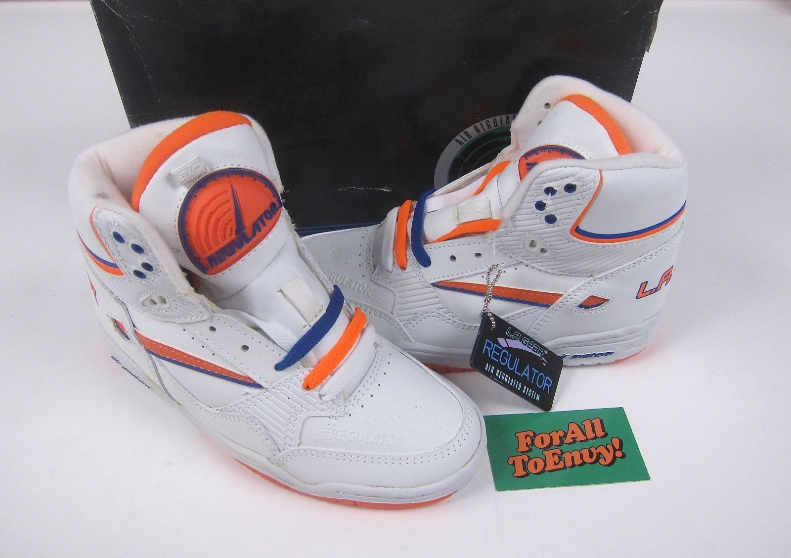 official photos f4378 89b10 Vintage La Gear Regulator Pump Womens Hi Top Sneakers 80s 90s Deadstock US  5 1 2  eBay