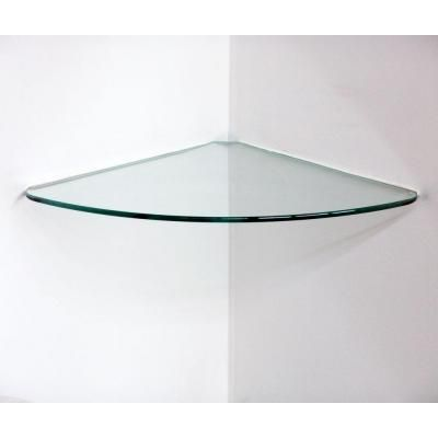 Floating Glass Shelves In. Curve Glass Corner Shelf (Price Varies By   The  Home Depot Part 62
