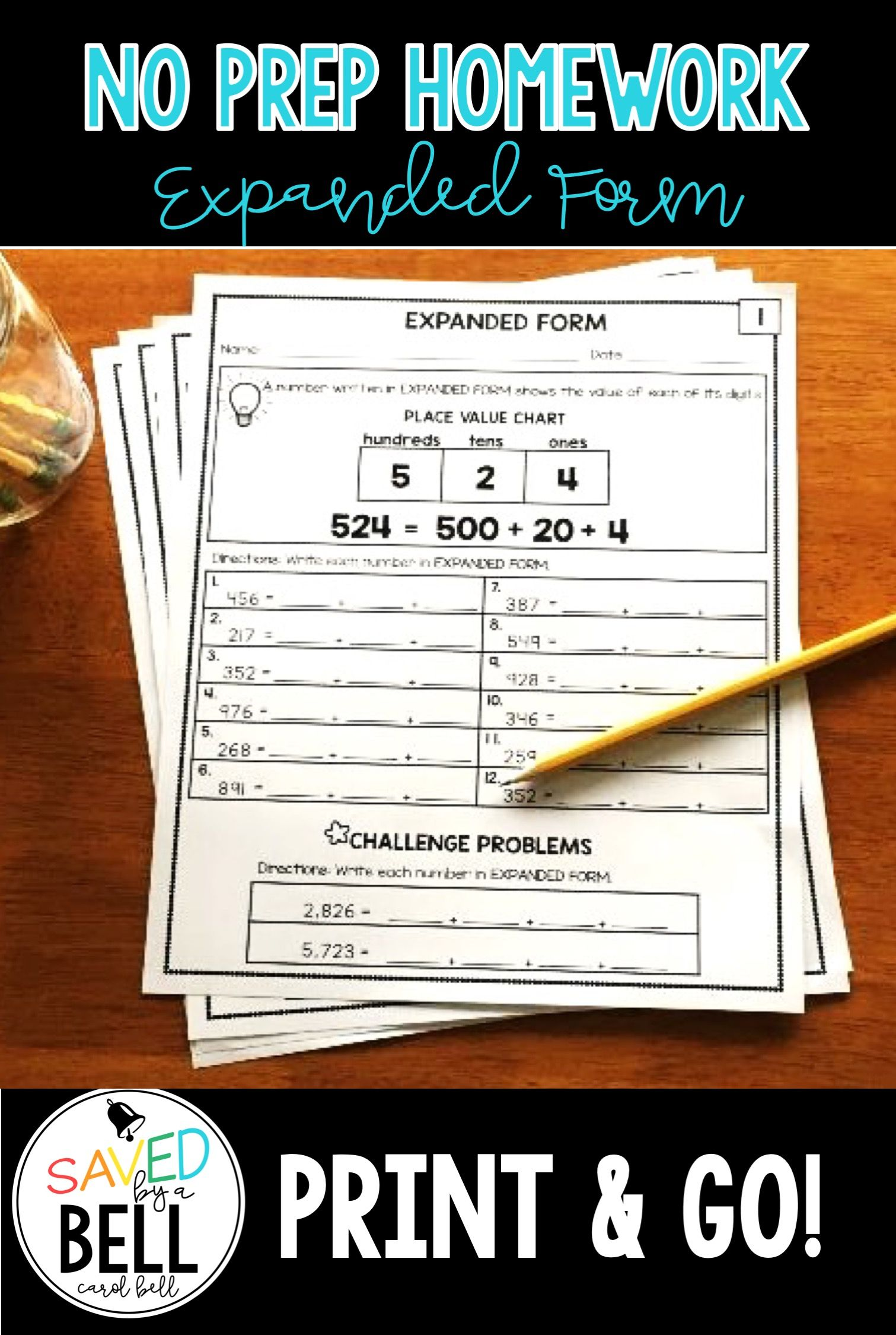 Expanded Form Worksheets Distance Learning