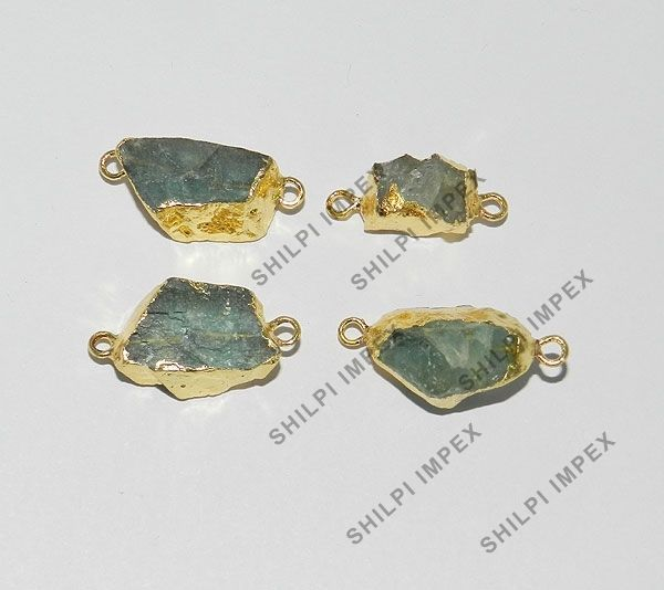 5Pc! Very Rare Natural Apatite Brass Gold Electroplated Wholesale Lot Connectors #Shining_Gems #Connectors #Jewelry #gemstone
