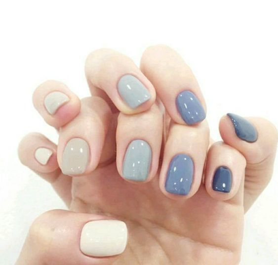 70 Simple Nail Design Ideas That Are Actually Easy Multicolored Nails Colorful Nail Designs Acrylic Nail Designs