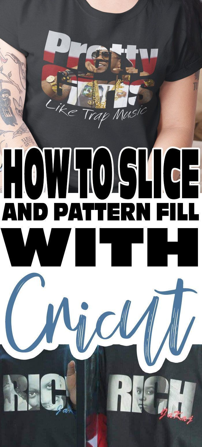 How to Slice On Cricut Then Photo or Pattern Fill