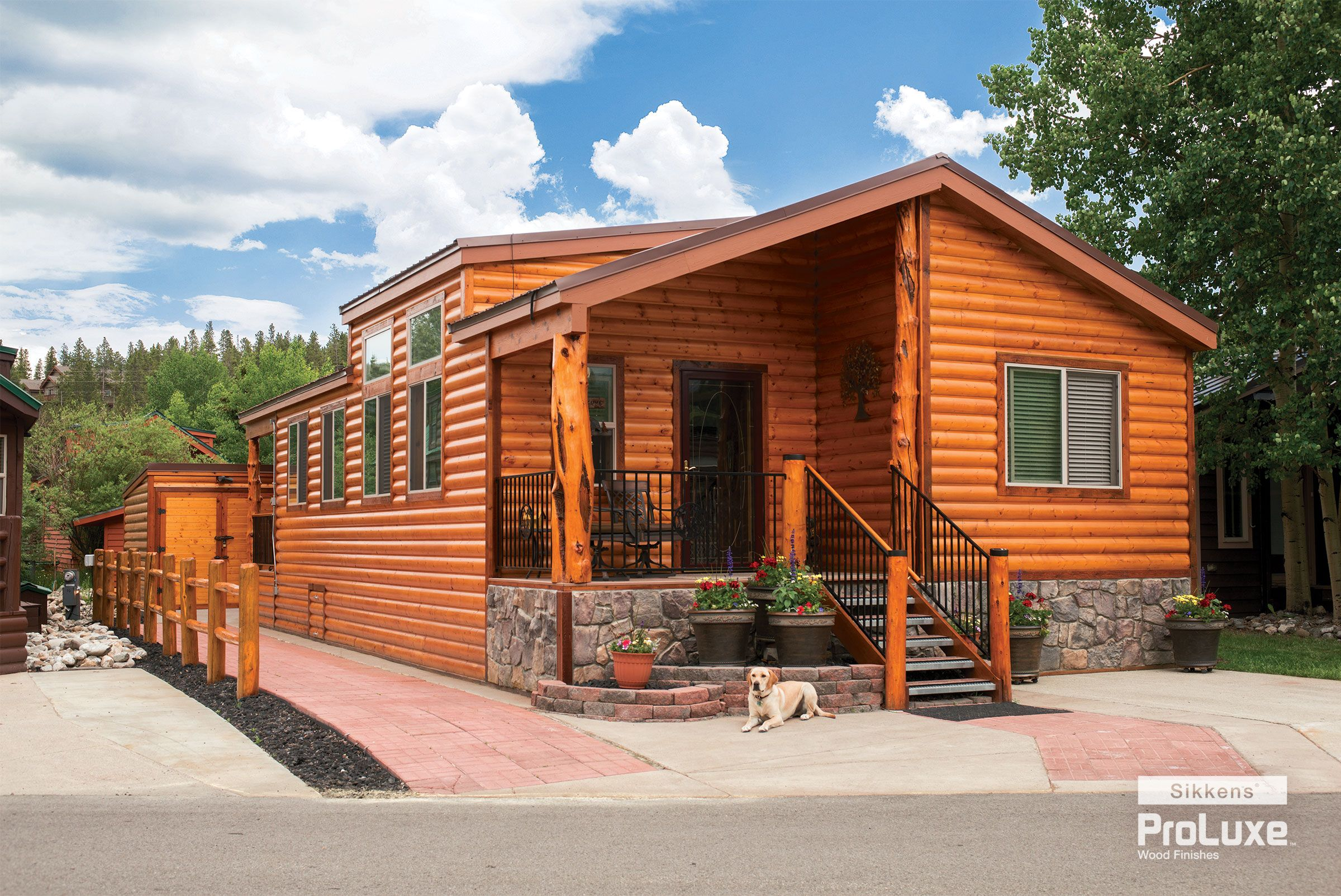 This Stunning Log Cabin Gets Its Luster From Its Exterior Wood Finish U2014  Sikkens® ProLuxe™ Cetol® Log U0026 Siding In Natural. The Cabin Is Located On  Tiger Run ...