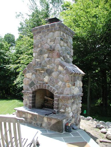 Fireplaces, Stacks, and Faces | Outdoor fireplace ... on Quillen Steel Wood Burning Outdoor Fireplace id=95105