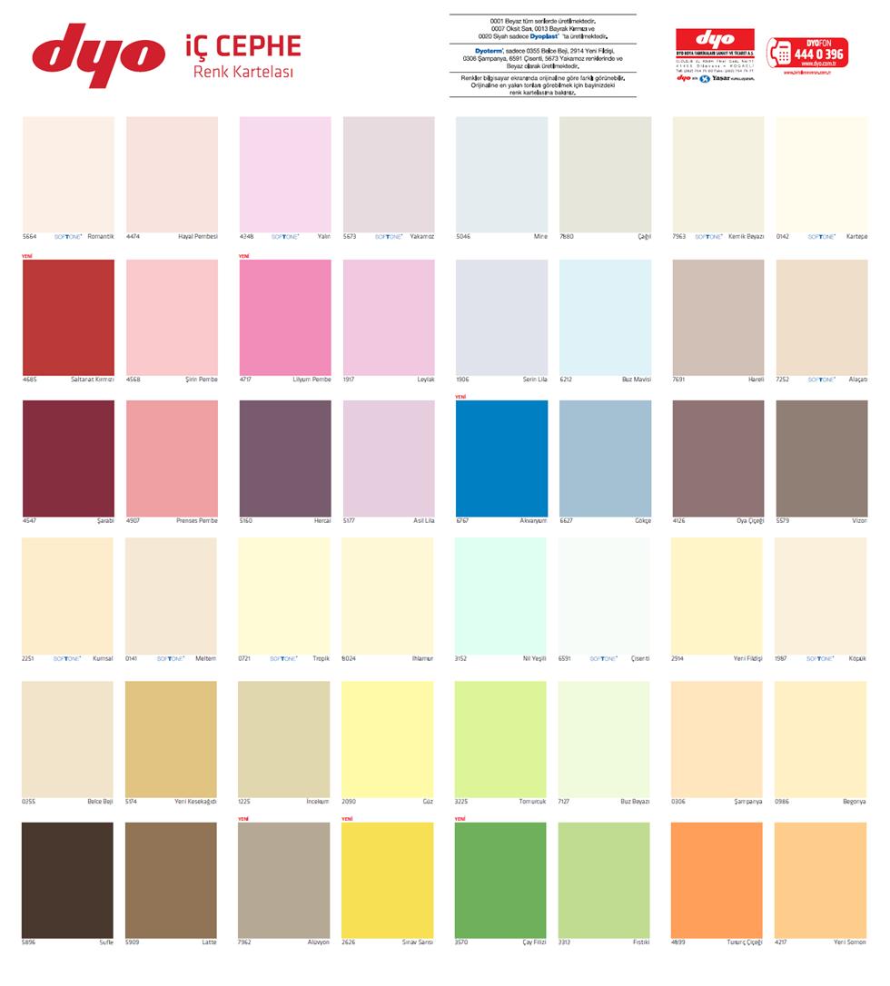 Super Tasarim Dyo Boya Renkleri Katalogu Galerisi Renkler Tasarim