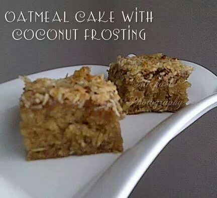 Oatmeal cake coconut frosting