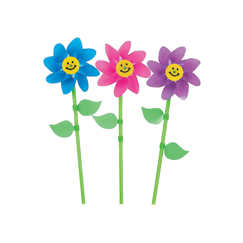Smile Face Flower Pinwheels Flower Birthdays And Game Prizes