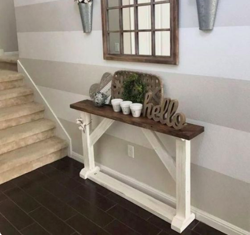 Thin Sofa Table For Behind The Couch Diy Sofa Table Sofa Table Decor Farmhouse Sofa Table