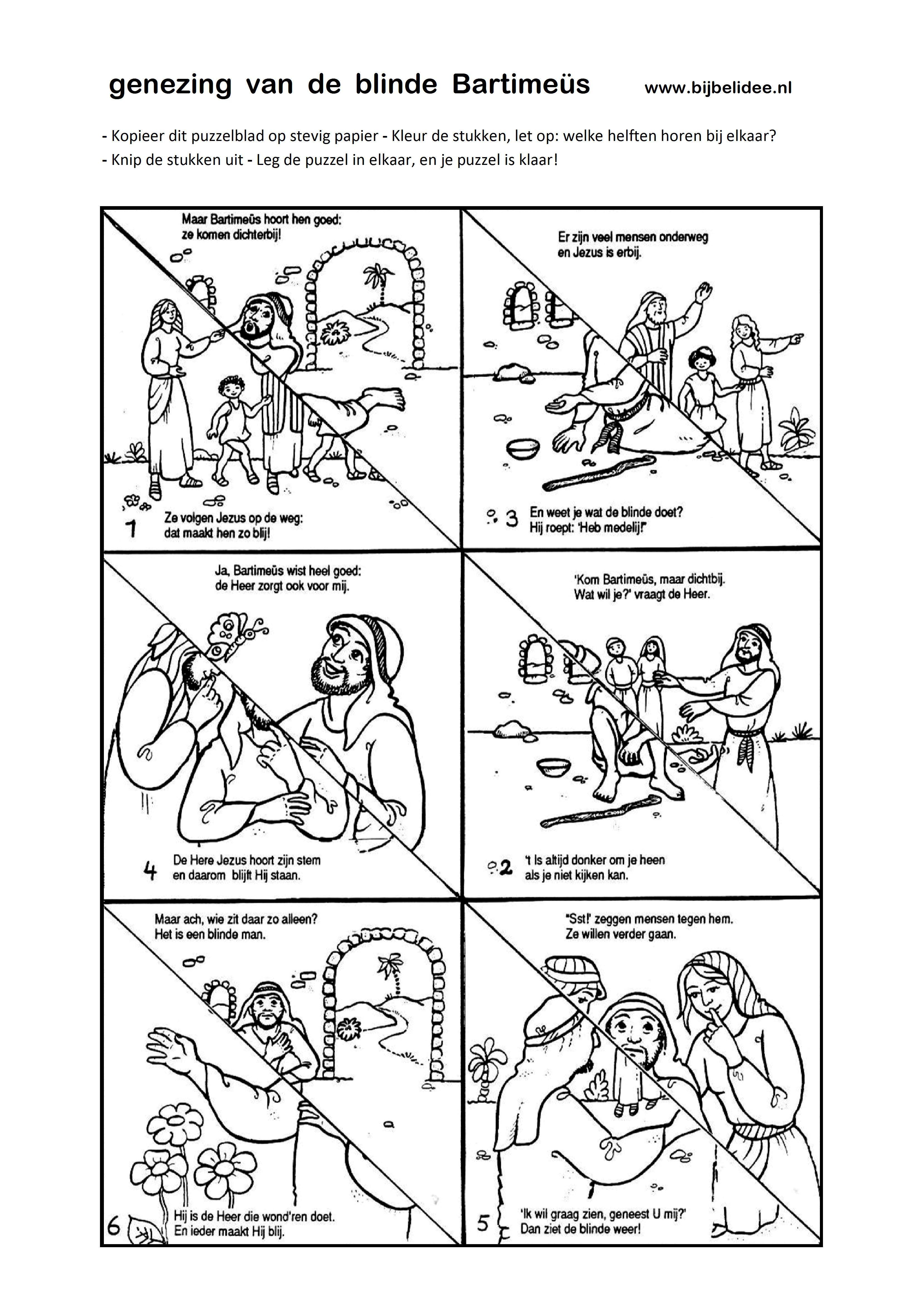 Bartimeüs puzzel - www.bijbelidee.nl | Bible - Jesus | Pinterest ...