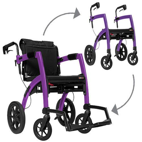 Rollz Motion Rollator Walker and Transport Chair in One