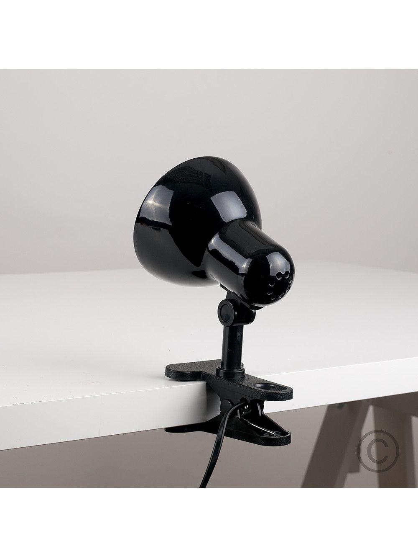 Black Clipon Spotlight Lamp Lamp, Spotlight lamp, Table