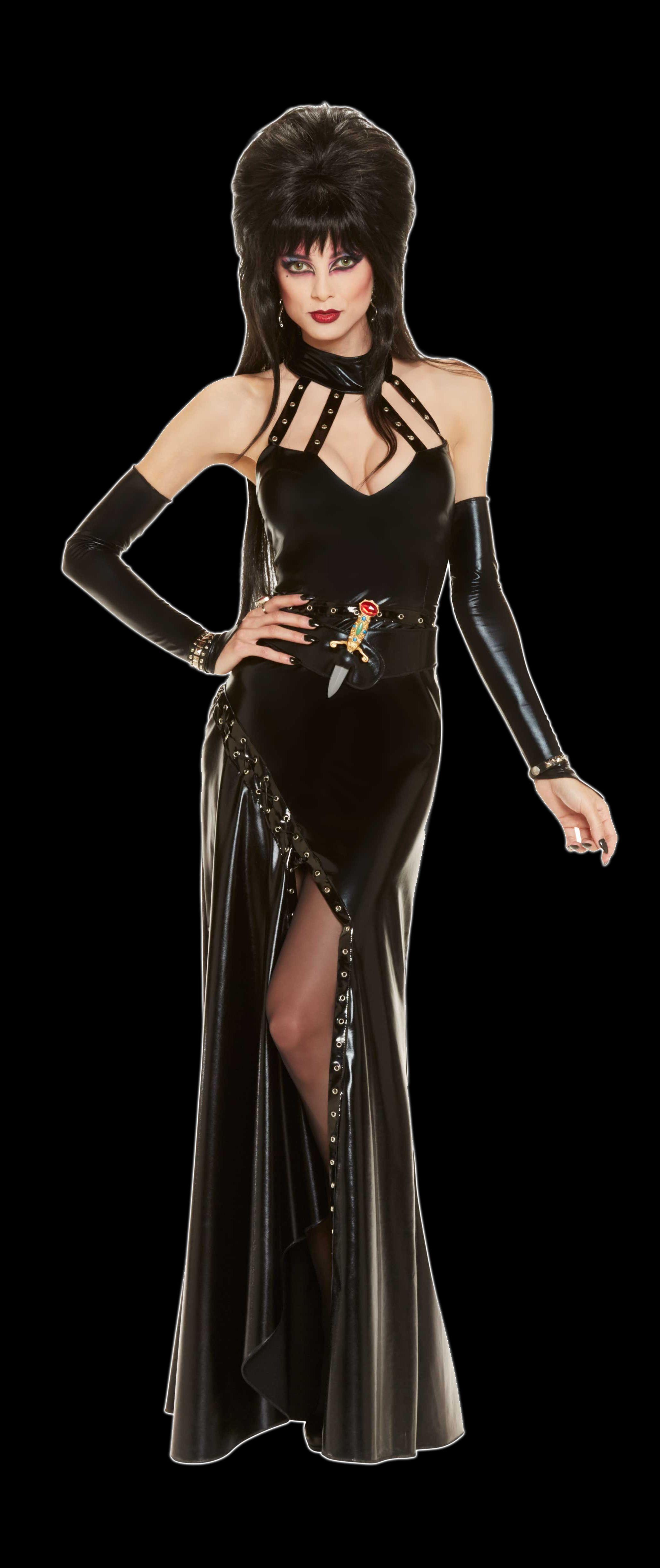 Mistress Elvira Costume Addams Family Black Tie Halloween