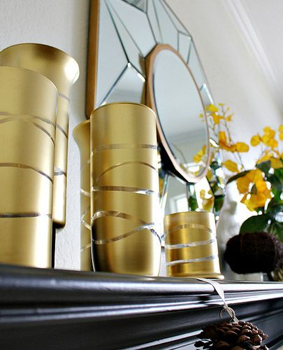 Make them silver! DIY Home decor Pinterest Gold vases and Crafts