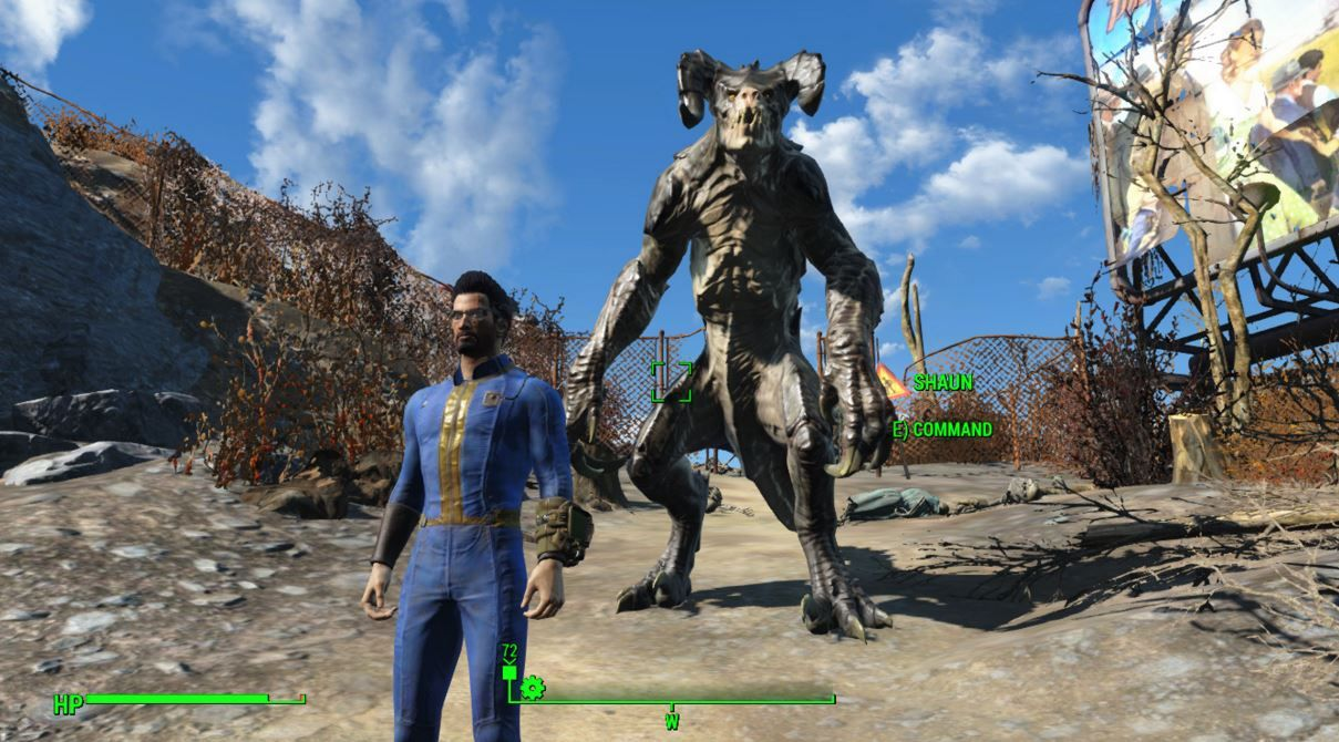 Fallout 4 mod lets you have an adorable Deathclaw companion