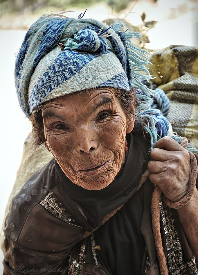 I took this portrait on an old Moroccan woman in the mountains of Marrakesh