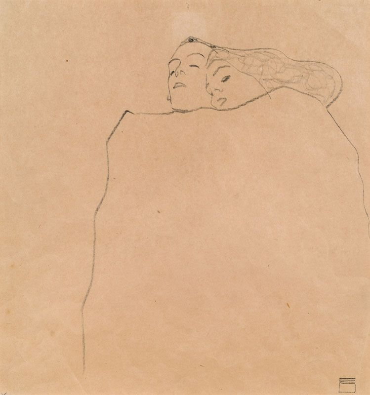 \Egon Schiele, Schlafendes Paar [Sleeping Couple], 1909. Pencil on paper, 32 x 30 cm.