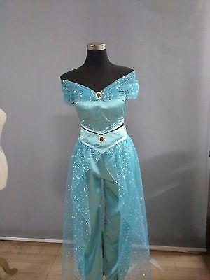 Adult Aladdin Lamp Jasmine Princess Cosplay Halloween Costume Party Dress Pants