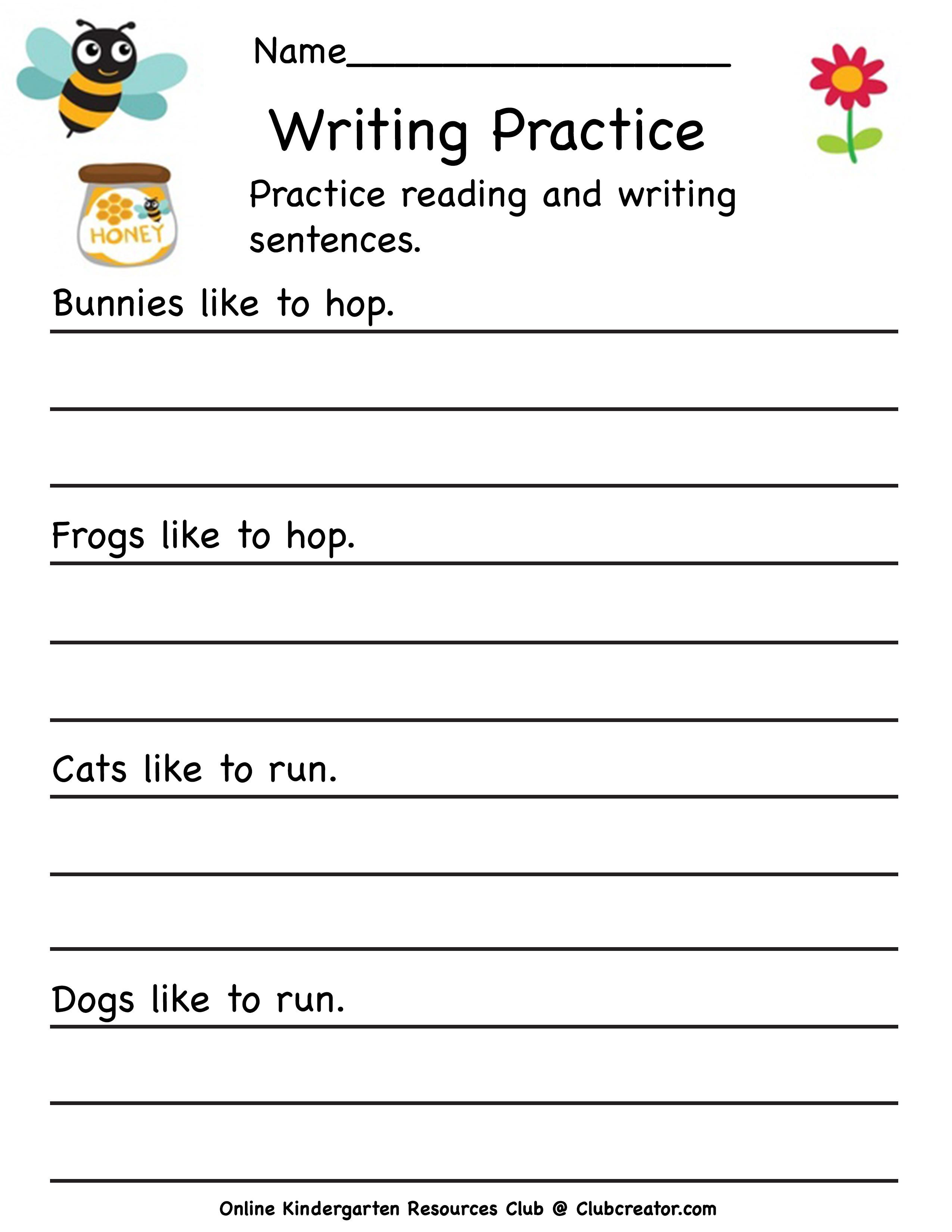 Sentence Writing Practice Writing Practice Worksheets Writing Practice Name Writing Practice