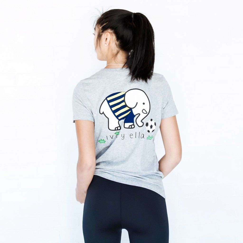 Perfect Fit Heather Grey Soccer Tee Ivory Ella Cute Clothes