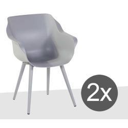 Photo of Hartman Sophie Studio garden armchair 2-part aluminum / plastic Misty Gray HartmanHartman